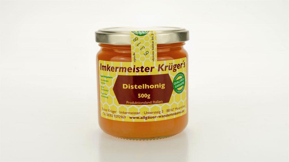 Bienenhonig - Distelhonig - Echter Europäischer Honig vom Imker kaufen