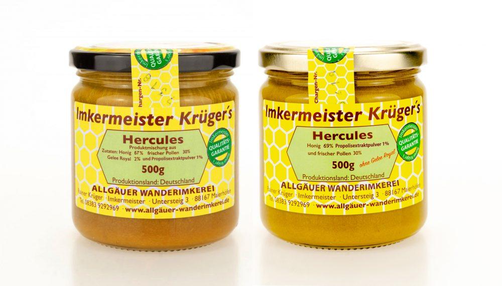 Hercules Bienenprodukte in Honig direkt vom Imker