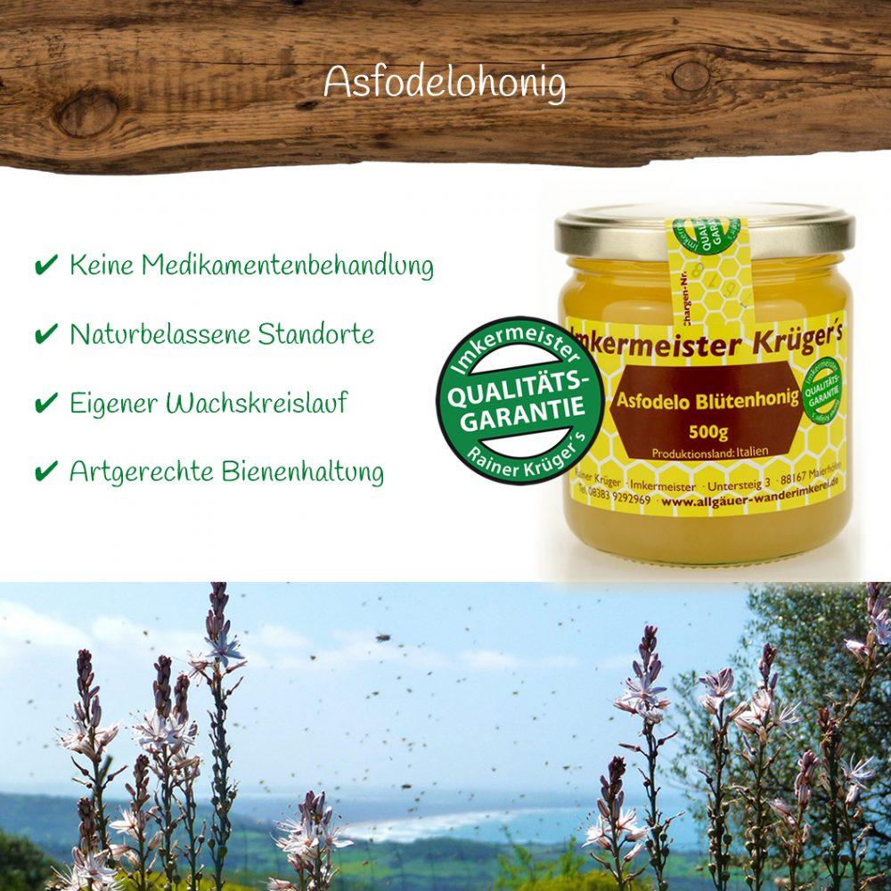 Honig Direkt Vom Imker Ihrer Allgäuer Wander Imkerei Aus Dem Allgäu Asfodelo Blütenhonig 02