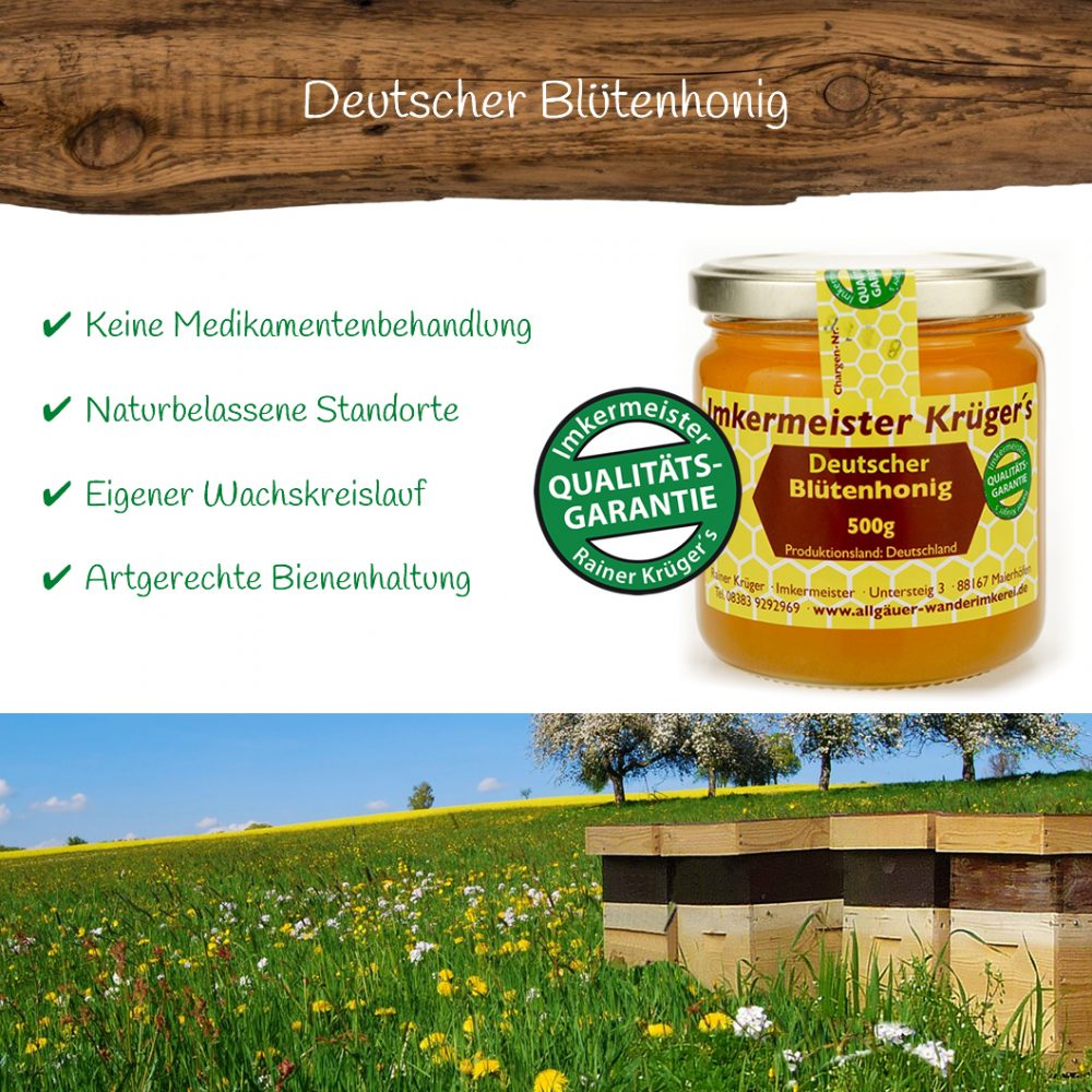 Deutscher Blütenhonig 500g