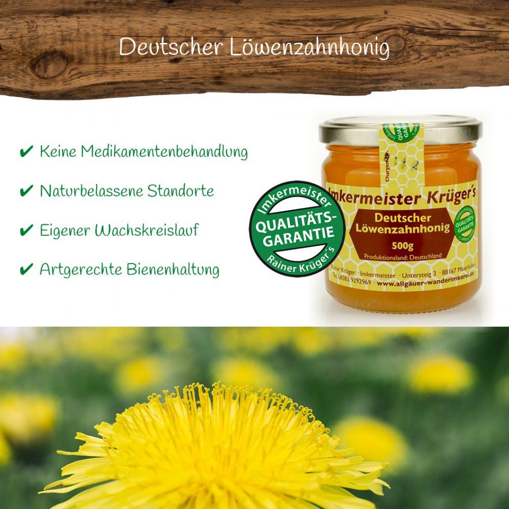 Honig Direkt Vom Imker Ihrer Allgäuer Wander Imkerei Aus Dem Allgäu Deutscher Löwenzahnhonig 01