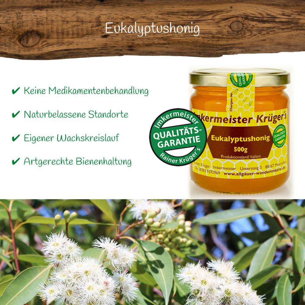 Honig Direkt Vom Imker Ihrer Allgäuer Wander Imkerei Aus Dem Allgäu Eukalyptushonig 01