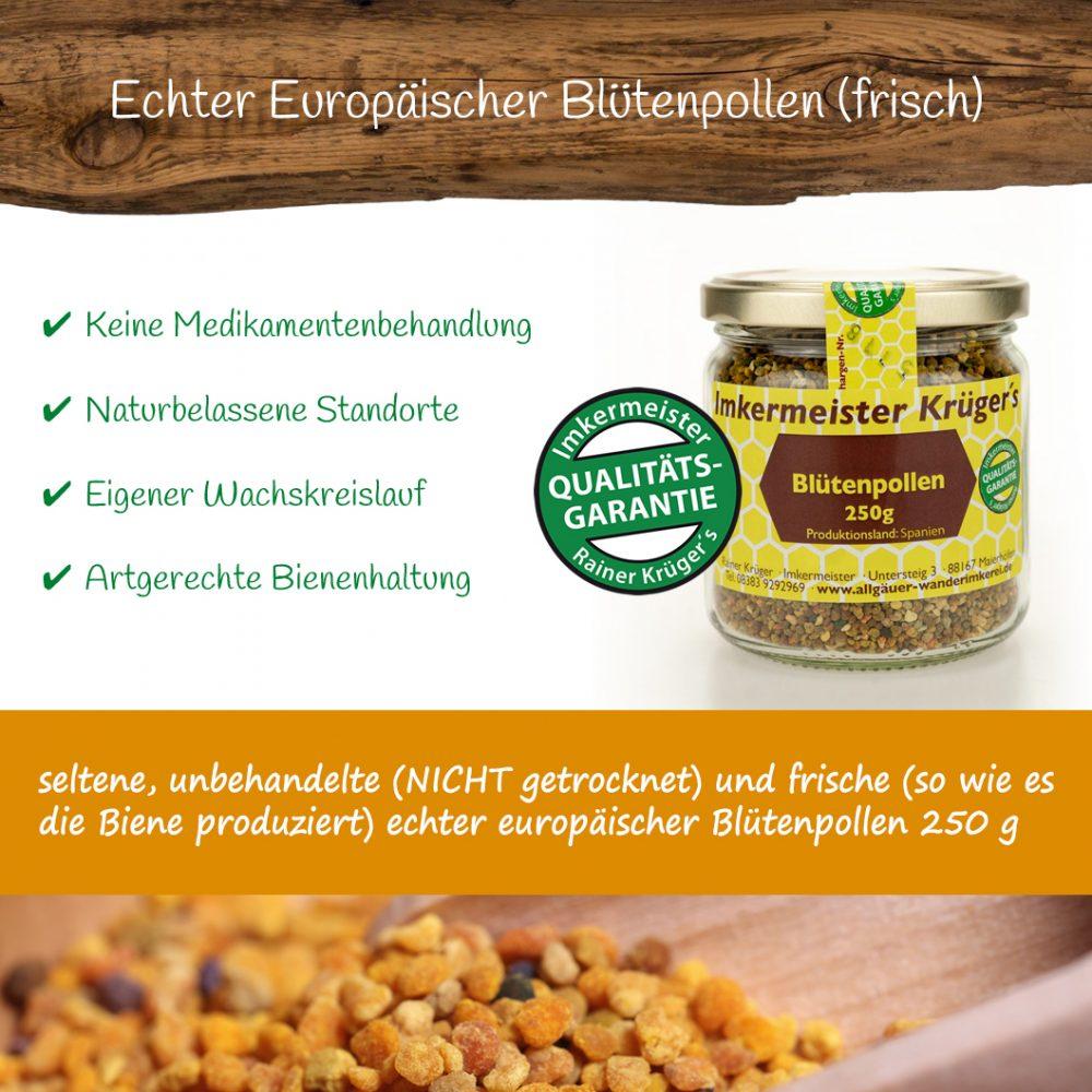 Honig Direkt Vom Imker Ihrer Allgäuer Wander Imkerei Aus Dem Allgäu Europäischer Blütenpollen (frisch) 02