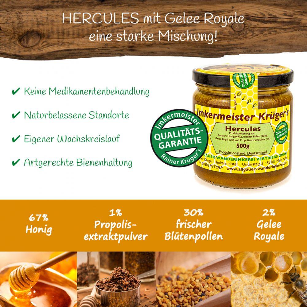 Honig Direkt Vom Imker Ihrer Allgäuer Wander Imkerei Aus Dem Allgäu Hercules Mit Gelee Royal 28