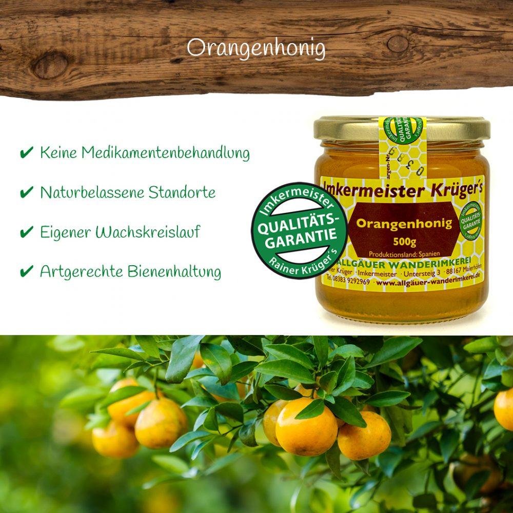 Honig Direkt Vom Imker Ihrer Allgäuer Wander Imkerei Aus Dem Allgäu Orangenhonig 01