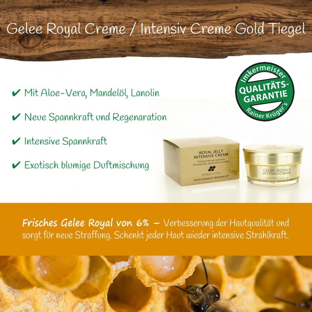 Honig Direkt Vom Imker Ihrer Allgäuer Wander Imkerei Aus Dem Allgäu Gelee Royal Intensive Creme 02