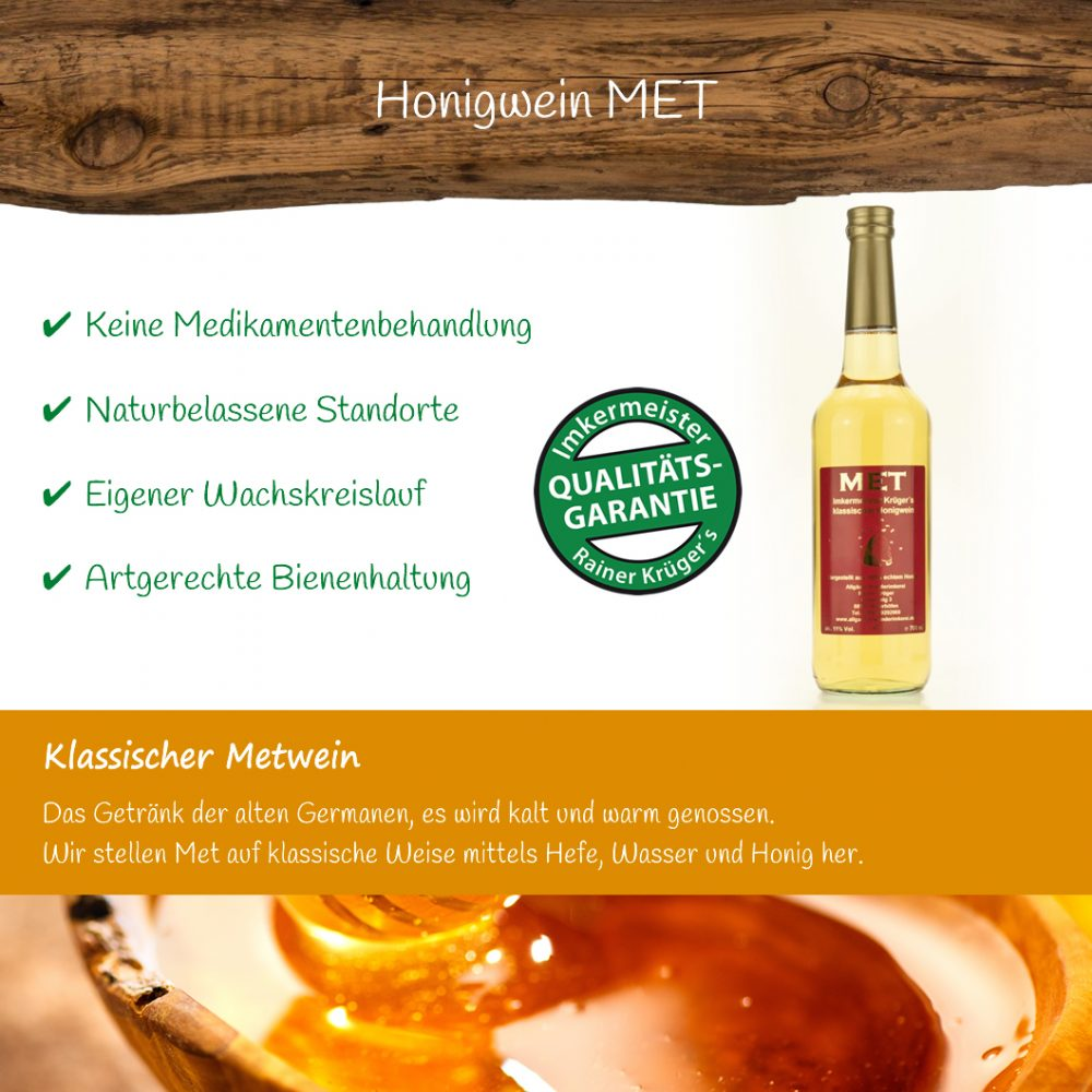 Honig Direkt Vom Imker Ihrer Allgäuer Wander Imkerei Aus Dem Allgäu Honigwein MET (Honig MET) 03