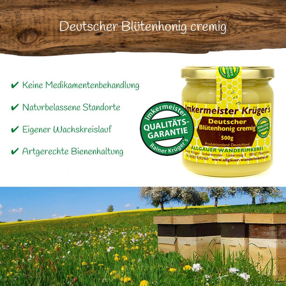Deutscher Blütenhonig cremig 500g