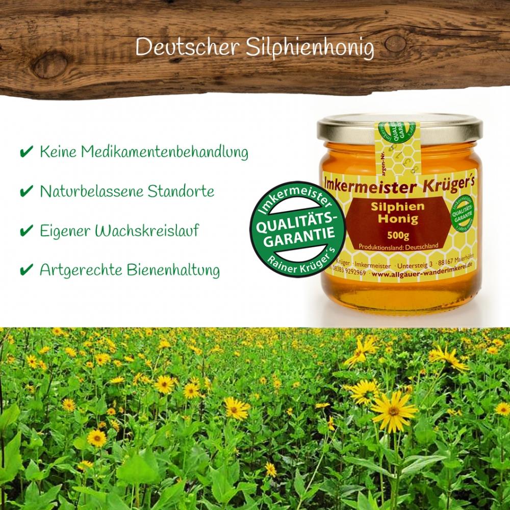Honig Direkt Vom Imker Ihrer Allgäuer Wander Imkerei Aus Dem Allgäu Deutscher Silphien Honig 01