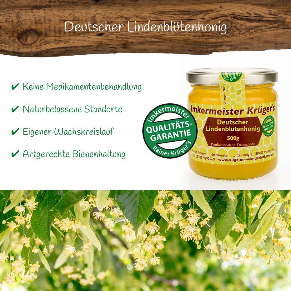 Honig Direkt Vom Imker Ihrer Allgäuer Wander Imkerei Aus Dem Allgäu Deutscher Lindenblütenhonig 01