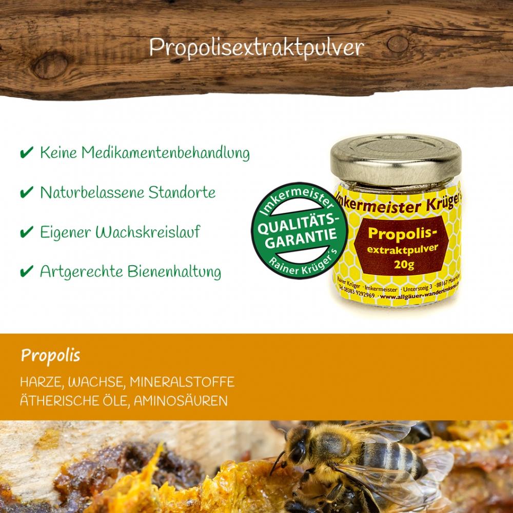 Honig Direkt Vom Imker Ihrer Allgäuer Wander Imkerei Aus Dem Allgäu Propolisextraktpulver 10