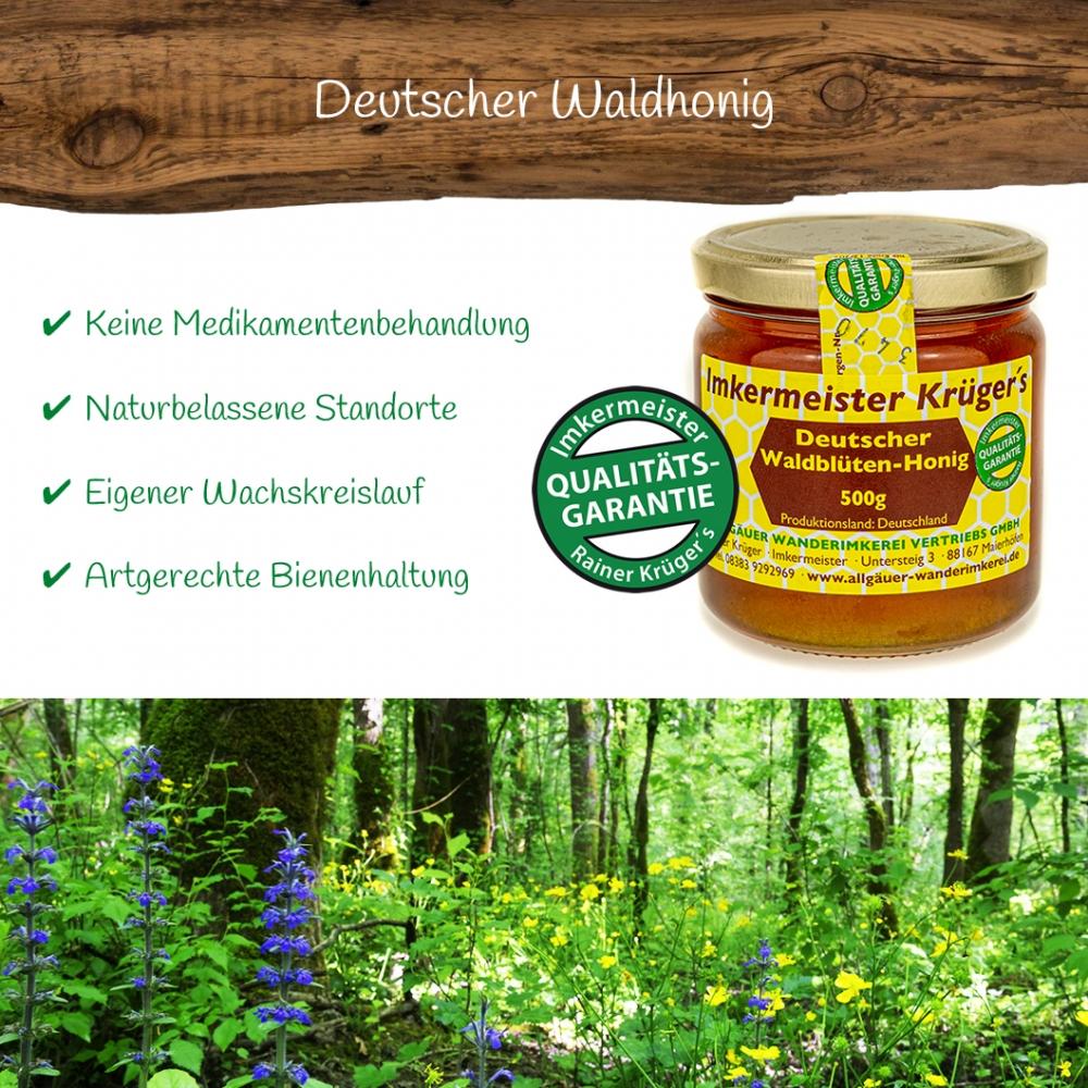 Honig Direkt Vom Imker Ihrer Allgäuer Wander Imkerei Aus Dem Allgäu Deutscher Waldblüten Honig 02