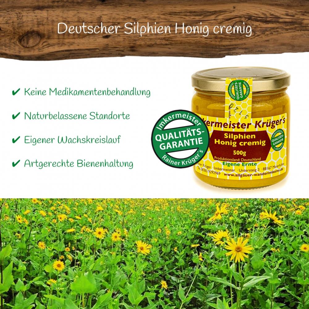 Honig Direkt Vom Imker Ihrer Allgäuer Wander Imkerei Aus Dem Allgäu Deutscher Silphien Honig Cremig 04