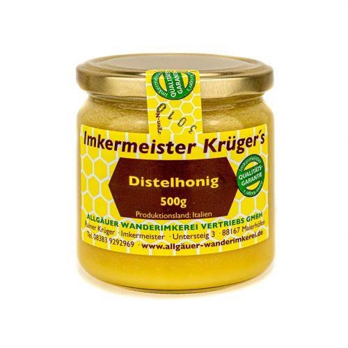 Honig Direkt Vom Imker Ihrer Allgäuer Wander Imkerei Aus Dem Allgäu Distelhonig Cremig 01