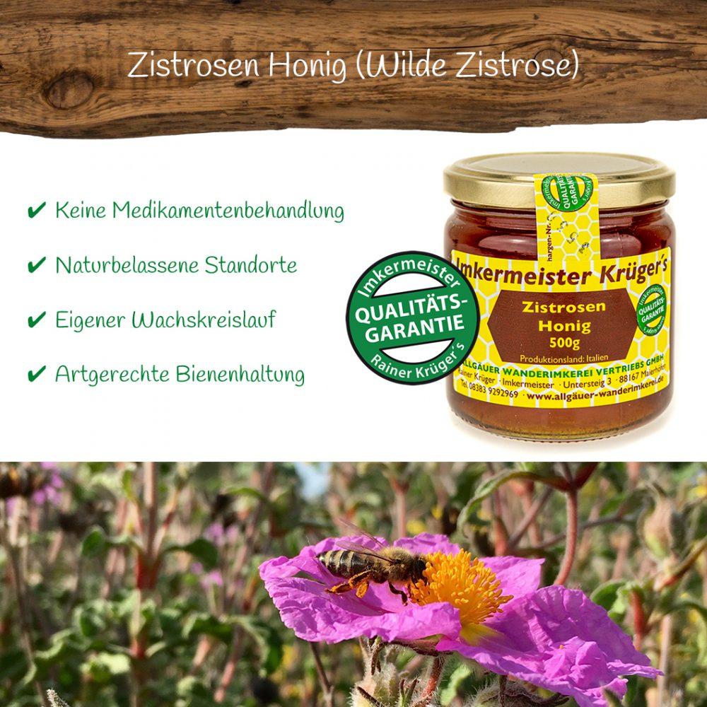 Honig Direkt Vom Imker Ihrer Allgäuer Wander Imkerei Aus Dem Allgäu Zistrosen Honig (Wilde Zistrose) 02